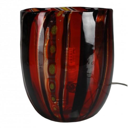Fantasy, Lampada Multicolore Nero Rossa