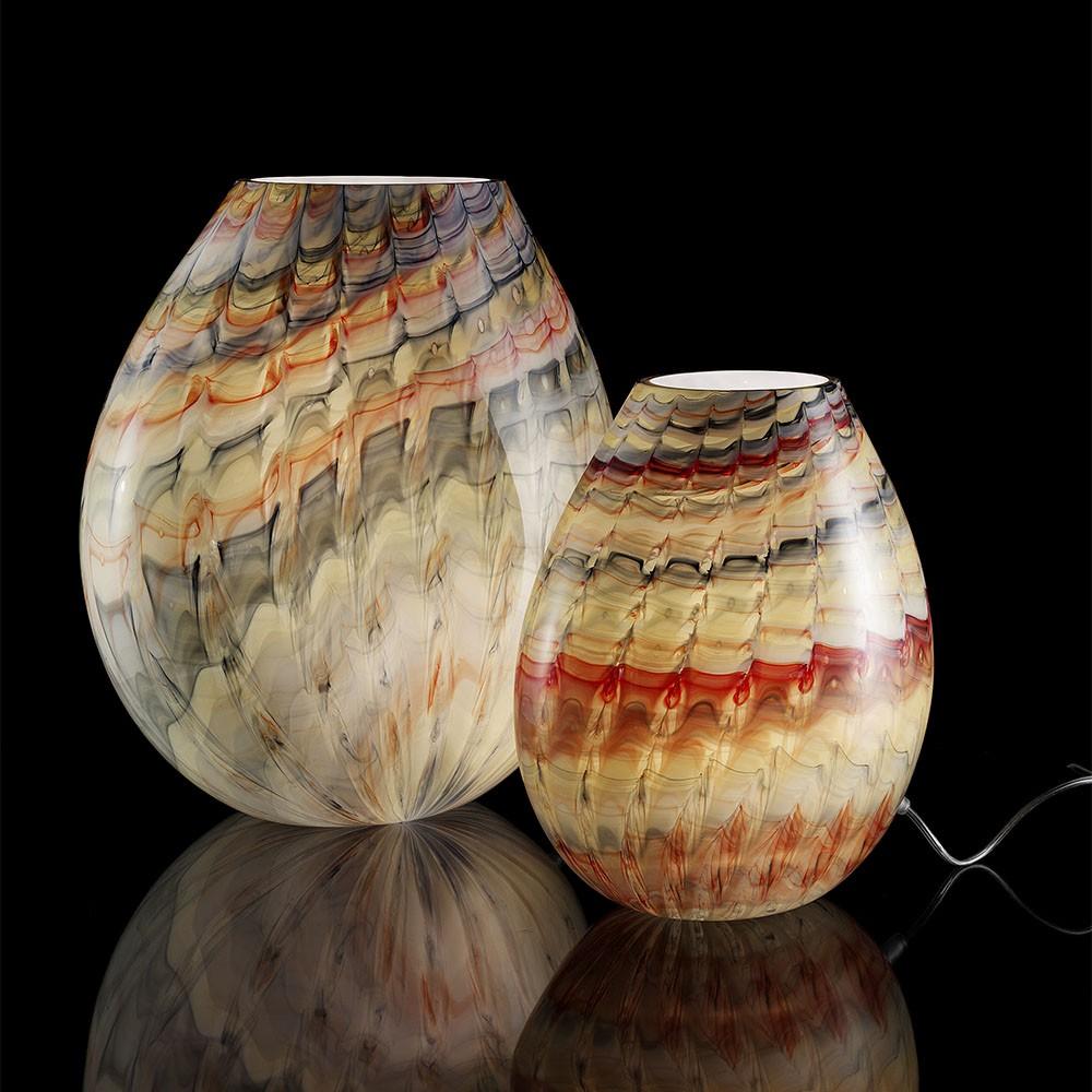 Ambiente lampada squame ambra lampade in vetro di - Lampade da tavolo in vetro ...