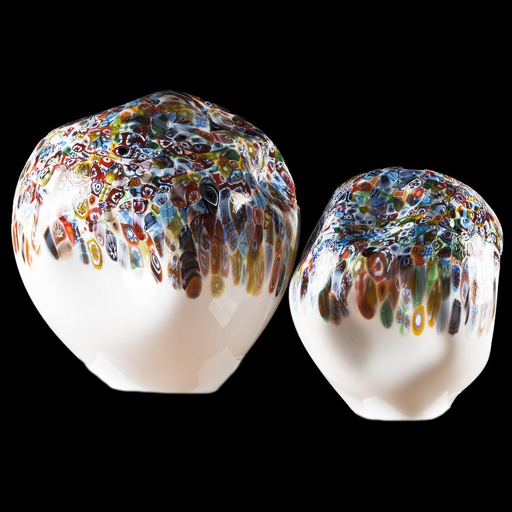 Massi lampada bianca multicolor lampade in vetro di for Lampade da comodino particolari