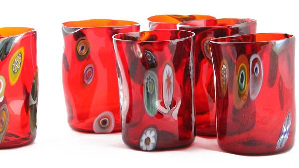 Bicchieri in vetro di murano per arredare la tua tavola con lo stile di venezia i muranesi - Disposizione bicchieri a tavola ...